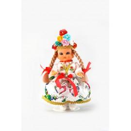 Lalka Krakowianka 16 cm strój weselny