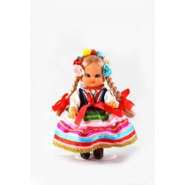 Lalka Lublinianka różowa 16 cm