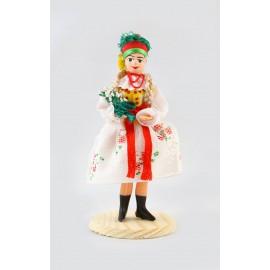 Lalka Krakowianka w stroju weselnym 12 cm