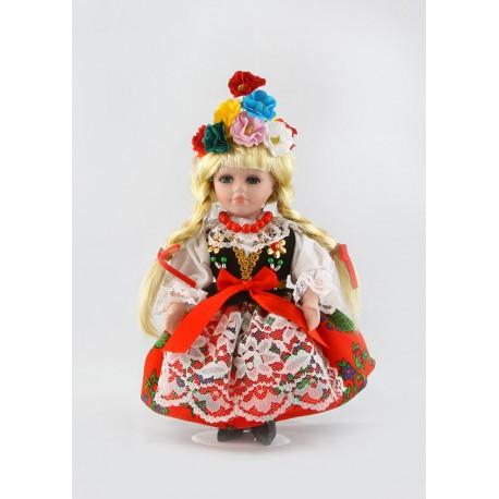 Lalka Krakowianka porcelana 20 cm
