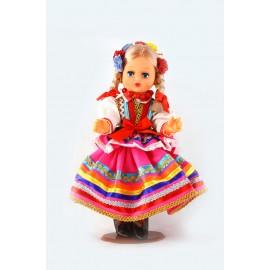 Lalka Lublinianka ciemno różowa 30 cm
